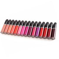 renk rujları toptan satış-Sıcak Retro Mat Mat Rujlar dudak rengi 15 Renkler Pro MC Çıplak Dudak Parlatıcısı Güzellik Makyaj
