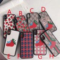ingrosso modelli di fragole-Cute Strawberry Pattern per iPhone 7plus Mobile Shell Marca Lettera Design TPU Soft Shell per iPhone 6 6plus 7 8 8plus X XR XS MAX Custodia