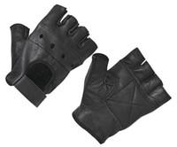 2019 NEW HOT Fashion Men's Leather Gloves Half Finger Fingerless Stage Sports Driving Solid Black Gloves