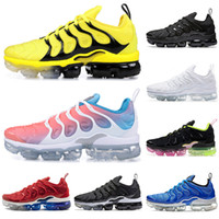 Wholesale glow shoes for sport resale online - 2019 New Arrival TN Plus BUMBLEBEE running shoes for men women triple black white Lava Glow red mens designer shoe trainers sports sneakers