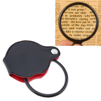 Portable Mini Black Reading Magnifying 50mm 60mm Hand-Hold Magnifier Lens Foldable Pocket Optical Lens Tool with Cortical Protective Cover