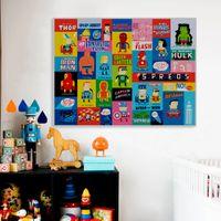 Wholesale pop art home decor canvas resale online - ome Decor Painting Calligraphy Vintage Superhero Avenger Movie Funny Batman Pop Posters Print Cartoon Wall Art Picture Boy Kids Room Home