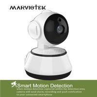Wholesale cctv video ptz resale online - 720P WiFi Mini Baby Monitor Wireless PTZ IP Camera P2P Indoor Surveillance Security CCTV Camera Home Video Monitor Night Vision