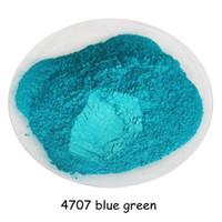nagellack pigment großhandel-500 gramm blau grüne farbe kosmetische perle glimmer perlenpigment staubpulver für diy nail art polnischen und make-up lidschatten, lippenstift