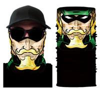 Wholesale ski face masks hats resale online - Motorcycle Face Mask Cool Robot Skeleton Halloween Mask Scarf Joker Headband Balaclavas for Cycling Fishing Ski Motorcycle
