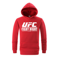 mücadele üstleri toptan satış-UFC Mücadele Mens Hoodies İlkbahar Sonbahar Elbise Moda Kapüşonlu Tişörtü Tops