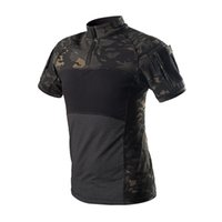 Wholesale multicam tactical shirt for sale - Group buy Army Tactical Shirt Short Sleeve Camouflage T Shirt Outdoor Quick Dry Camo Multicam Black Men Hunting Hiking Shirts