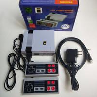 nes juego tarjeta al por mayor-Nueva actualización NES MINI 600 HD Consola de juegos de TV de 8 bits con tarjeta TF Juego nostálgico clásico no repetitivo