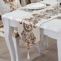 ingrosso tavolo di lusso moderno-Corridore di tavolo in flanella per la casa in stile classico europeo Copertura per tavolo contratta di moda Moderno frigorifero di lusso Armadio Bandiera Caldo