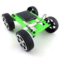 Wholesale kids power cars resale online - 2020 DIY solar toys car kids educational toy solar Power Energy Racing Car C6155