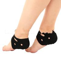 soporte de tobillo negro al por mayor-Cubierta del pie del tobillo Yoga Profesión Formación Tobillos Soporte Pad Piso interior Manga del zapato Negro Confort Transpirable 2 8cs C1