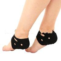 schwarze knöchelunterstützung großhandel-Knöchel-Fuß-Abdeckungs-Yoga-Beruf-Trainings-Knöchel-Stützauflage-Innenboden-Schuh-Hülse schwarzer atmungsaktiver Komfort 2 8cs C1