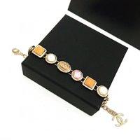 Wholesale colorful 18k bracelet resale online - Fashionable hot style classic luxury colorful gem bracelet Designer sells ladies jewelry and elegant bracelets