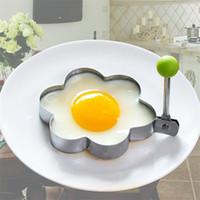 ingrosso stampi per friggere l'uovo-Utensili da cucina in acciaio inox stampo uovo fritto in acciaio stampo torta creativa stampo frittella utensili da cucina T9I0016