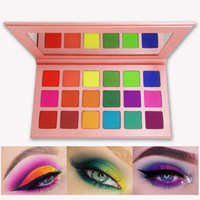 Wholesale matte eye shadow kits for sale - Group buy Summer Colorful Eyeshadow Palette Matte Colors Shimmer Blendable Bright Eye Shadow Pallete Silky Powder Pigmented Makeup Kit