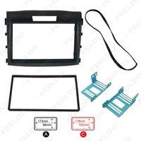 kits de tableau de bord honda achat en gros de-Cadre DVD voiture Panneau de radoub Dash Kit fascia Cadre Radio cadre audio pour 12-15 Honda CRV 2DIN # 1645