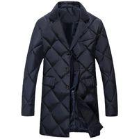 gesteppte jackenart großhandel-Nizza Winter New Style Mens Fashion Casual Plaid Dicker Baumwolle Steppjacke Herren Freizeit Baumwolle gepolsterte Jacke Trenchcoat