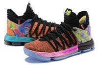 ingrosso scarpe blu kd-2019 Nuovo arrivo Che KD X 10s Ice Blue Pink Green Sport Outdoor Scarpe qualità 10s Kevin Durant 10 EP Outdoor Shoes US 7-12