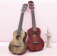 ukulele 23 venda por atacado-Guitarra de fábrica 23 polegada ukulele mogno guitarra de quatro cordas para iniciantes frete grátis