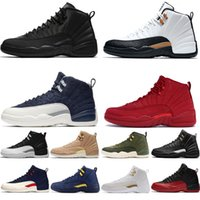 Wholesale free shipping soccer shoes for sale - Group buy s PSNY Milan Men Basketball Shoes CNY Michigan Gym Red NYC Bulls XII Mens Trainers Designer Sports Sneakers