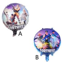 doğum günü alüminyum balonlar toptan satış-Oyun Balonlar 18 inç Alüminyum Folyo Büyük Balon Çocuk Oyuncak Doğum Günü Festivali Malzemeleri Noel Cadılar Bayramı Dekorasyon Parti Kaynağı