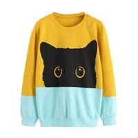 968e9f75e0 Wholesale dropshipping hoodies for sale - Plus Size XXL Women Hoodie  Sweatshirt Casual Cute Cat Print