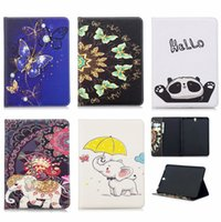 drucktasten großhandel-Stand PU-Leder gedruckt Abdeckung für Samsung Tab A 10.1 2019 Tablet Cover Funda für Galaxy Tab E 9,6 T560 T510 T725 T820 T580 T550 T815 Fall
