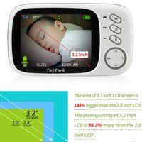 câmera de segurança de cores sem fio venda por atacado-3.2 polegada Sem Fio Vídeo Color Baby Monitor de Alta Resolução Baby Nanny Security Camera Night Vision Monitoramento de Temperatura