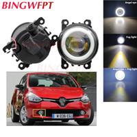 Wholesale glasses for fog resale online - 2x Car Accessories LED Fog Light Angel Eye with Glass len For Clio IV For SCENIC