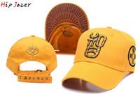 snapbacks amarelos venda por atacado-Estilo chinês bordado Chinoiserie Homens Budismo Amarelo bonés de beisebol nuvens auspiciosas snapbacks ajustável chapéu Sinicism caps