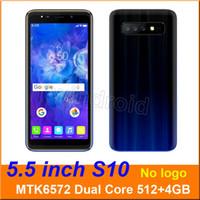 mtk6572 mobile toptan satış-5.5 inç S10 Çift Çekirdekli Akıllı telefon MTK6572 512 + 4G Android 6.0 Çift SIM KAM 5MP 960 * 480 3G WCDMA Unlocked Mobil Hareket uyandırma Ücretsiz DHL 5 adet