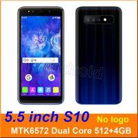 мобильный телефон mtk6572 оптовых-5,5-дюймовый S10 двухъядерный смартфон MTK6572 512 + 4G Android 6,0 Dual SIM CAM 5MP 960 * 480 3G WCDMA разблокирована Мобильный Жест пробуждения Бесплатный DHL 5 шт.