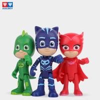 Wholesale boys toys figures resale online - Auldey PJ Masks Kids Manga Articulated Figure Series Gekko Catboy Owlette Romeo Luna Girl Night Ninja Movable Toys Boys Girls Gift Toy