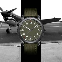 armee grüne uhren groihandel-New montre de luxe 1884 Pilot 8 automatische mechanische Bewegung Mensentwerfer Uhren Armee grüne Nylonband-Männer Armbanduhr relogio masculino