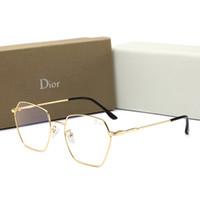 blaue männer sonnenbrillen rahmen großhandel-Sommer Designer Herren Sonnenbrillen New Fashion Anti-blue Light Brille mit Vollformat für Männer Frauen Flache Spiegel Dekorative Gläser mit Box