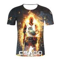 globale kleidung großhandel-CS GO Gamer T-Shirt 2019 Top-Qualität Markenkleidung Lustige 3D T-Shirt T Hot Counter Strike Global Offensive CSGO Männer T-Shirt