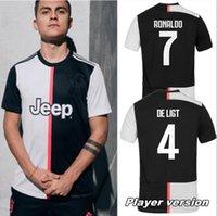 ev oyuncusu toptan satış-2019 2020 DYBALA Oyuncu versiyonu DE LIGT 4 Ev üçüncü futbol Forması MANDZUKIC 19 20 HIGUAIN Juventus deplasman MARCHISIO KHEDIRA formalarını
