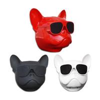 flaşlı spor hoparlör toptan satış-Toptan köpek kafası Bluetooth kablosuz hoparlör ses subwoofer müzik çalar açık stereo taşınabilir HIFI bas hoparlör çok amaçlı