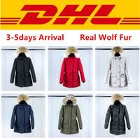 s giyim toptan satış-Canada goose Üst Kalite Kanada TRILLIUM PARKA FUSION FIT Kabanlar Gerçek Kurt Kürk Palto Tasarımcı Aşağı Ceket XS-2XL # 07