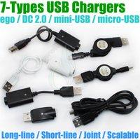 chargeurs de batterie dc achat en gros de-cigarette électronique chargeur USB DC 2.0 ego mini USB micro USB évolutif passe-câble A TYPE MALE TO 2.5mm DC2.0 pour g Battery e cig chargers