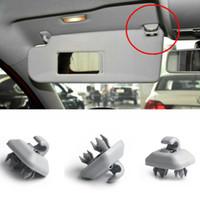 araba iç güneşlik toptan satış-1 Adet Araba Iç Güneşlik Kanca Klip Braketi Için Audi Q3 Q5 Q7 A1 A3 A4 A5 Gri