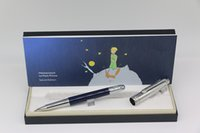 beden yukarı toptan satış-Lüks küçük prens serisi MB Roller kalem up gümüş ve aşağı mavi vücut gümüş Trim ofis okul tedarik hediye ile kalem