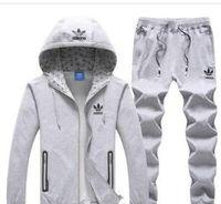 trajes de versión al por mayor-2019 Mejor Versión Primavera Otoño Para Hombre Chándales Imprimir Zipper Traje Tops + Pantalones Mens Casual Sudadera Trajes Deportivos