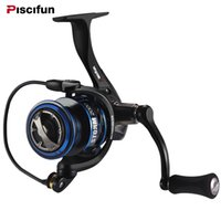 ingrosso pesca d'aria-Piscifun New Spinning Reel 6.2: 1 Gear Ratio 10 + 1 Cuscinetti Double Sealed Trascinamento Air Rotor Braid Ready Alluminio Spool Fishing Reel