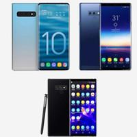 cell phones оптовых-Бесплатный DHL Goophone S10 plus Note 9 Сотовые телефоны разблокированы четырехъядерный телефон 6,5 дюйма в полноэкранном режиме Показать 128GB поддельные 4g lte android телефон Запечатанный ящик