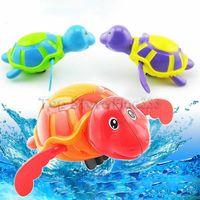 brinquedos sinuosos venda por atacado-Nova Wind-up Tartarugas Jogar Brinquedo de Natação Água Crianças Banheira Banheira de Piscina Animais Soando Brinquedos Nadar Relógio
