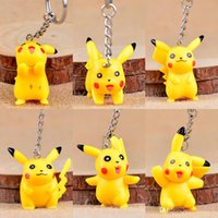 Wholesale couple figures for sale - Group buy Pikachu key chain bell couple Keychain Car Key Holder Bell Anime Key Chain Bag Pendant Bts Pikachu Action Figures Accessories Girl kids toys