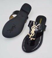 marine sandalen großhandel-2019 Damenmode Herringbone Sandalen Ledersandalen Soft Navy Leder Große Qualität Casual Strand Hausschuhe Billig Verkauf