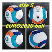 Wholesale soccer ball free shipping resale online - best quality European Cup Soccer ball Final KYIV PU size balls granules slip resistant football high quality ball