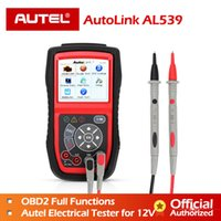 Wholesale obd scanner autel resale online - Autel AL539 OBDII Code Reader OBD Car Scanner Electrical Tester AL V AL539B AVO Meter Battery Diagnostic Tool